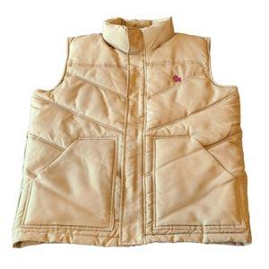 Jack & Jones tan puffer vest